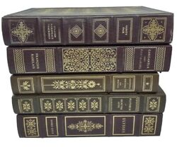 Lot Of 5 Franklin Library Books Classics Vanity Fair Ulysses Plutarch Aristotle