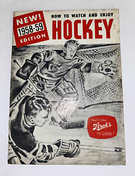 """Vintage 1958/59 Stroh's/detroit Red Wings """"how To Watch And Enjoy Hockey"""" Guide"""