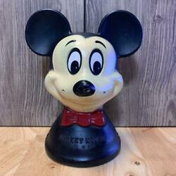 Disney Mickey Mouse Head Coin Bank From Japan No.3859