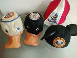 Disney Vintage 1970 Mickey Mouse Donald Hat Set Free Shipping No.9144