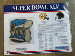 Super Bowl Xlv 45 2011 Patch Green Bay Packers Vs Steelers Willabee And Ward