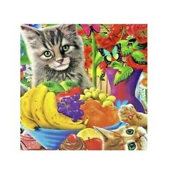 Artbox 500 Piece Small Jigsaw Puzzle Curious Kittens New Free Ship