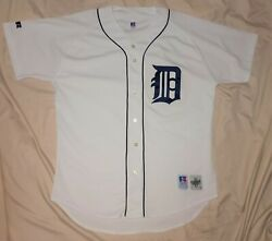 Authentic Mlb Jersey Detroit Tigers Vintage Russell Athletics Home Blank Vtg