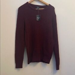 Nwt Forever 21 Menandrsquos Red Cable Knit Sweater