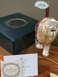Waterford Holiday Heirlooms Carousel Lion Signed Ltd Edition In Original Box