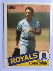 Rare - Lonnie Smith 1985 Topps Traded Blue Back Proof Promo 109t 109 Prototype