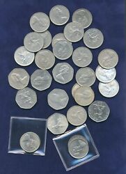 Great Britain / England 1968-1987 10 And 50 New Pence Coins, Group Lot Of 29