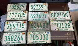 Vintage 1980s Lot Of 10 Six Digit Numbers New Hampshire Craft License Plate Nh