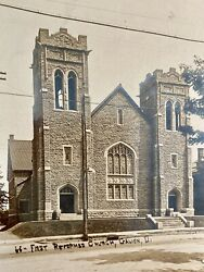 First Reformed Church Galion Ohio Rppc Real Picture Postcard Real Picture Oh
