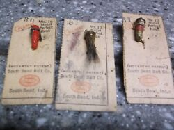 Vintage South Bend Fly Rod Fishing Lure Collection On Cards Calmac