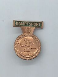 Vintage East German Stasi Combat Sports Competition Award Pin, 2nd Class