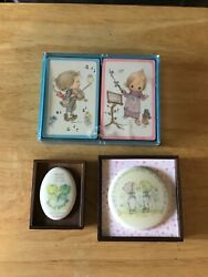 Hallmark Betsy Clark Playing Cards And 2 Mini Plaques