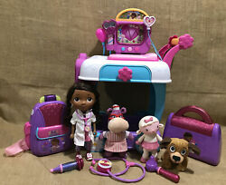 Lot Of Disney Doc Mcstuffins Toy Hospital Care Cart - Just Play