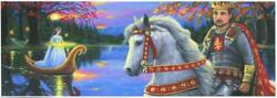 Aceo Medieval King Arthur Lady Of The Lake Excaliber Sword Horse Autumn Print
