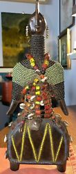 African Fertility Doll Fetish Beads Shells Namchi People Cameroon West Africa