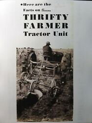 Sears Thrifty Farmer Tractor Build Convert Model Ford A T Sales Brochure Catalog