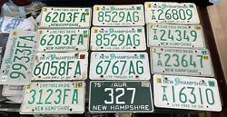 Vintage New Hampshire Farm Agriculture And Tractor License Plate Lot Of 13 Nh