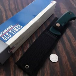 Schrade Old Timer 142ot Knife Made In Usa Fixed Blade Vintage Safety Grip