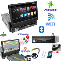 Single 1 Din 7 Touchscreen Android Vintage Car Truck Stereo Radio Player Gps Fm
