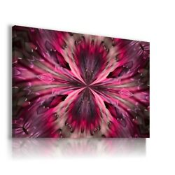Abstract Flower Kaleidoscope Canvas Wall Art Picture Ab840 Unframed -rolled