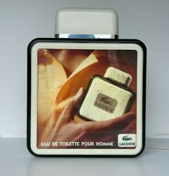 Lacoste Illuminated Advertising Shop Sign Display Eau De Toillette Homme 1980and039s