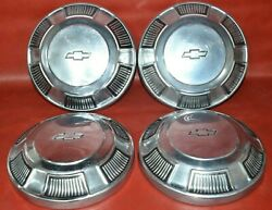 1968 - 1972 Oem Chevy Impala Biscayne Dog Dish Hubcap Wheel Cover Poverty Cap