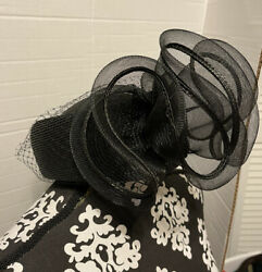 Vintage Designed by Sylvia of NY St. Louis Women#x27;s Hat Black Straw Hat $53.00