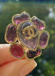 Vintage  Gripoix Poured Glass Clip On Earrings