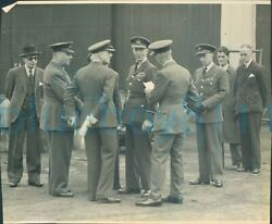 Post Ww2 Photo Saso Officers Raf Base Air Vice Marshal And Officers