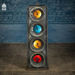 Single Vintage Four-aspect Colour-light Railway Signals By Westinghouse Brake And