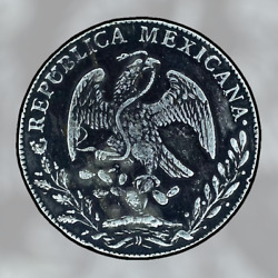 Mexico Republic Guadalupe Y Calvo Mint 8 Reales 1845 Gc Mp Round Tail Rare