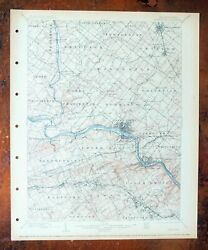 Norristown King Of Prussia Pennsylvania Antique Usgs Topographic Map 1895 Topo