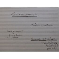Poussel A.the Cloister Heroic Provence Manuscript Singer Orchestra Sheet Music