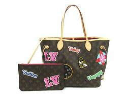 Louis Vuitton Monogram Patchand039s Sticker Neverfulle Mm With Pouch Tote No.9209