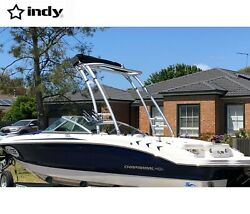 Indy Max Forward Facing Boat Wakeboard Tower Anodized W Indy Max Foldable Bimini
