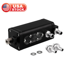 Universal Black Cnc Baffled Oil Catch Can 2-port Bottle Tank Car Accessories Usa