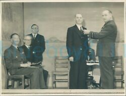 Post Ww2 Photo Saso Officers Air Vice Marshal And Air Ministry Officials