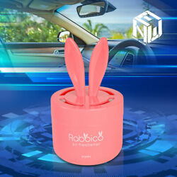 Diax Angel Snow 90g Rabbit Ears Can Style Deodorizer Air Freshener Pink Car/home