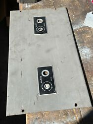 Pair Faceplates Langevin/western Electric Tube Amplifier Altec Rca 128