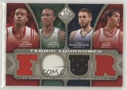 2009 Sp Game Used Fabric Foursomes Level 2 /50 Carl Landry Gabe Pruitt F4-gmpl