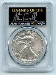 2021 1 American Silver Eagle Type 2 Pcgs Psa Ms70 Legends Of Life Alan Trammell