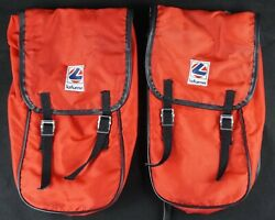 Vintage Lafuma Bicycle Front Rack Panniers French Randonneur Touring Bags