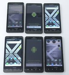 Lot Of 6 Working Motorola Droid X2 Mb870 And Droid X Mb810 Smartphones For Verizon