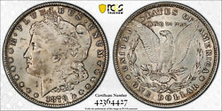 1878 8tf Pcgs Ms62 8 Tail Feathers Morgan Silver Dollar