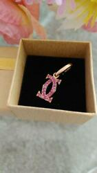 2c Charm K18pg Pink Sapphire From Japan Fedex No.2634
