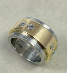 Santos 100 Ring 18 Gold Stainless No.10 From Japan Fedex No.1521