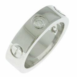 K18wg Ring Love Diamond 3p 49 No.9 Silver Women And039s Previously No.933