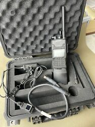 Harris Rf-7800t-hh011 Isr Video Receiver W/ Display Cable Antenna And Battery