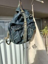 Rrl Indigo Dyed Leather Backpack From Japan Fedex No.8274