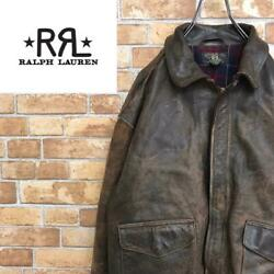 Rrl Initial Made In Usa A2 Leather Jacket From Japan Fedex No.8704
